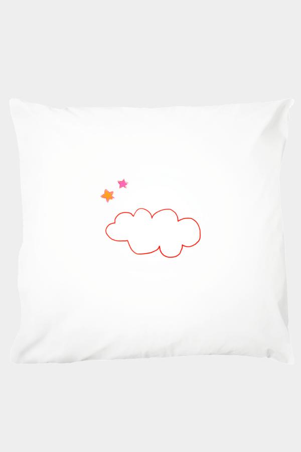 Kissenbezug 80 x 80 cm Clever Cloud, 100 % Baumwolle, schadstofffrei