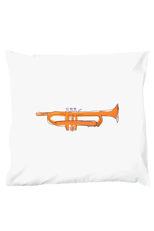 Kissenbezug Tiny Trumpet 80 x 80 cm - Schadstofffreie Kinderbettwäsche