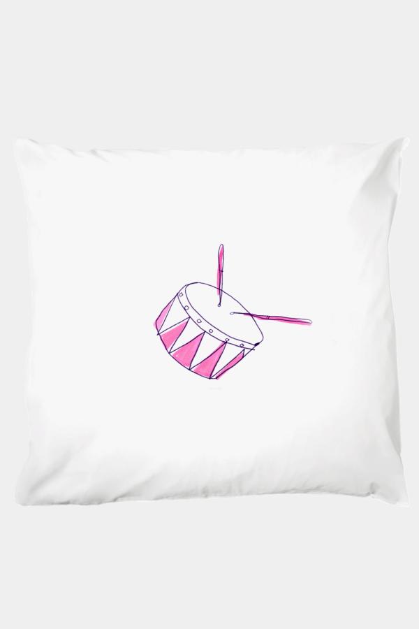 Kissenbezug 80 x 80 cm, Dreamy Drum, Kinderbettwäsche