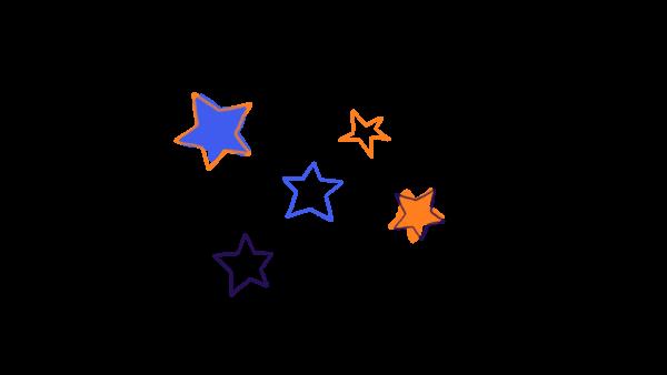 SHINY STARS ORANGE