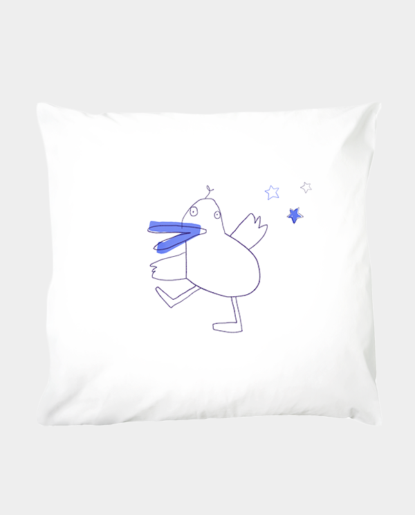 Kissenbezug 80 x 80 cm Dancing Duck - 100 % Baumwolle