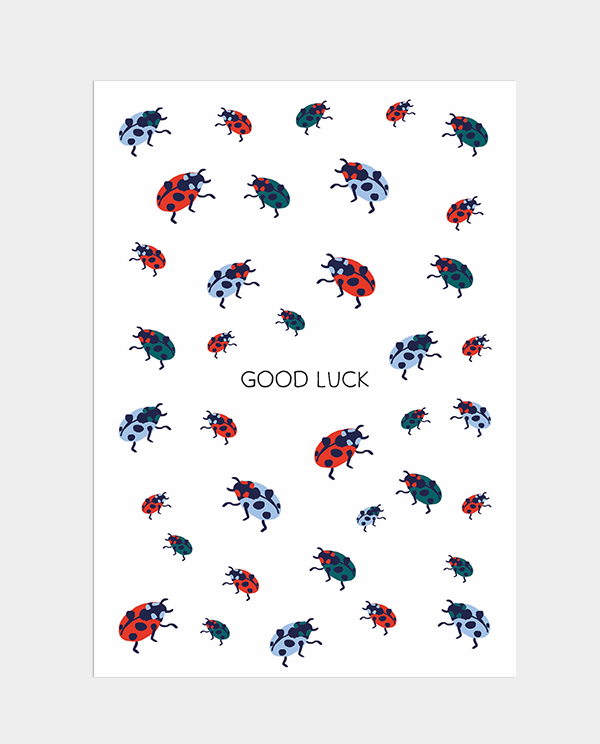 Postkarte Good Luck